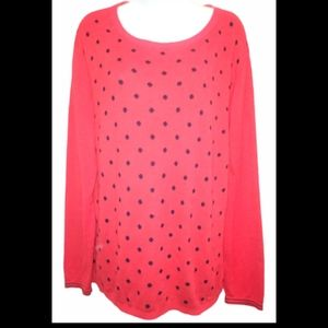 Tommy Hilfiger retro polka dot oversized sweater